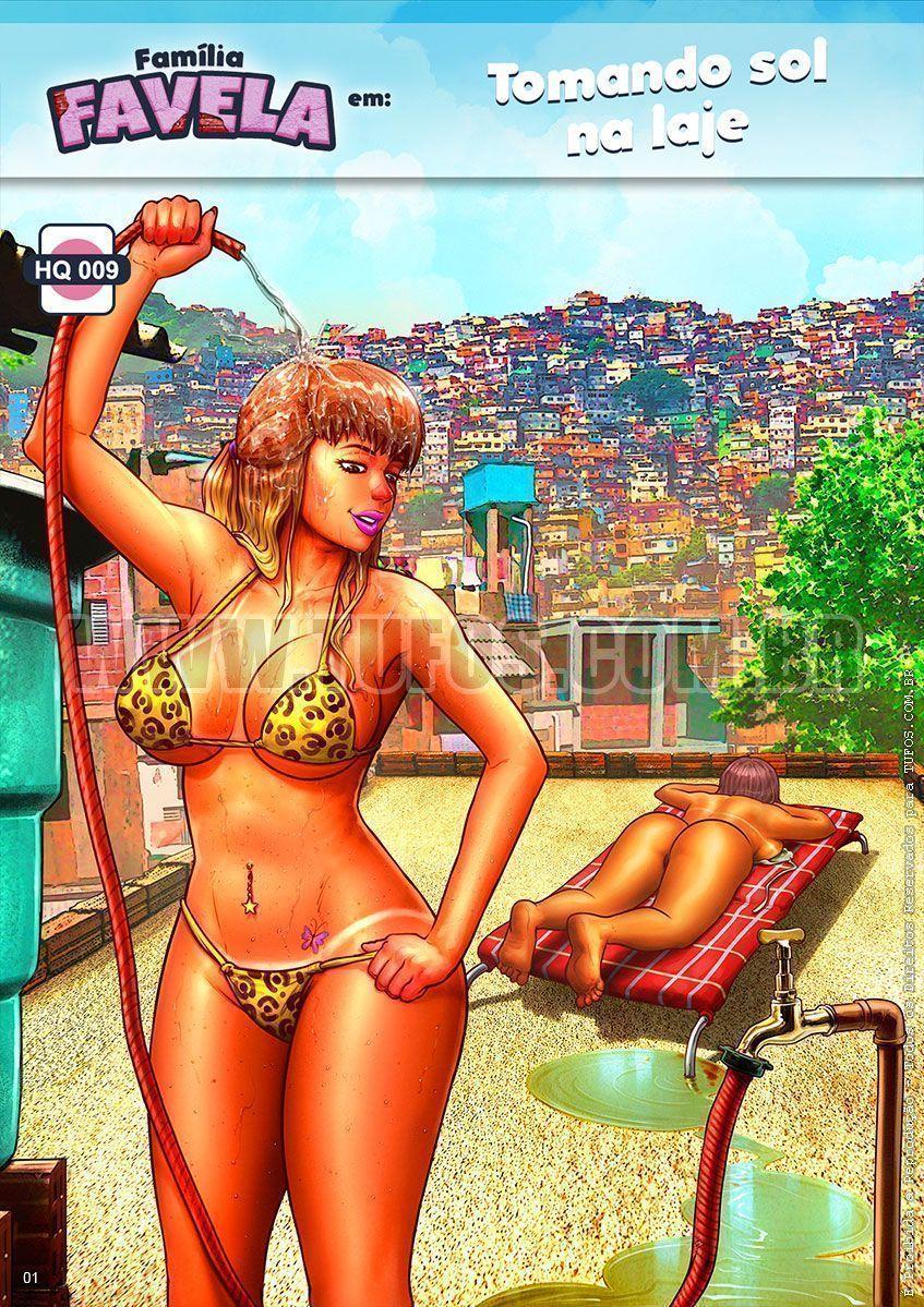 Família Favela - Tomando sol na laje